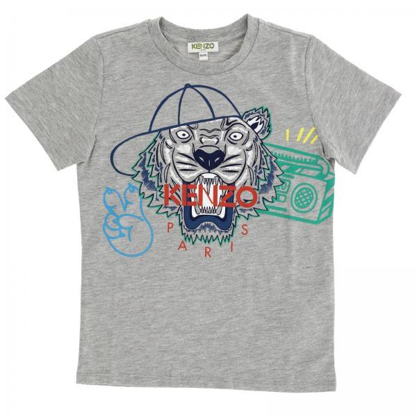 Kenzo Junior Little Boy s Grey T-shirt  f581d3aa6
