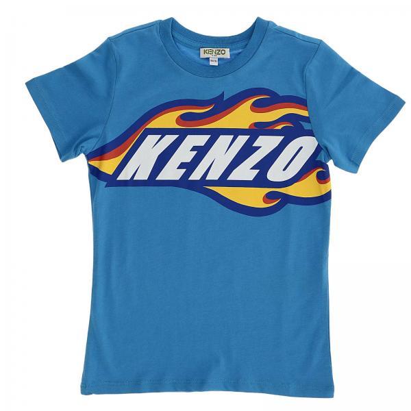 Kenzo Junior Little Boy s Gnawed Blue T-shirt  3955aa3c0