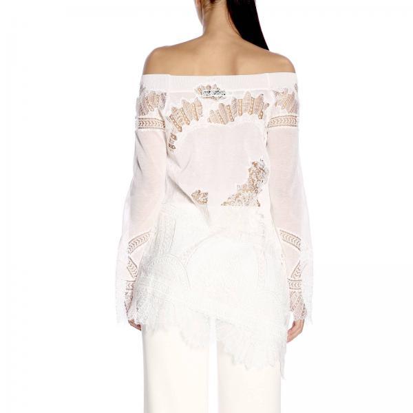 D345m718 Apnoigiglio verano Blanco Mujer Primavera Jersey Scervino 2019 Ermanno SHC1wAq