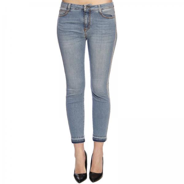 5286ee3ed2 Jeans ermanno scervino slim fit in denim con bande di strass