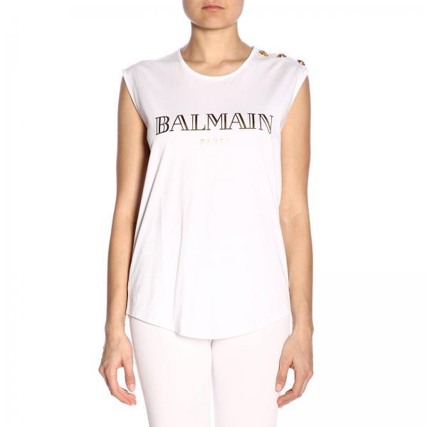 verano Rf01162i170giglio Primavera Camiseta Balmain 2019 Mujer wICCqE4Un