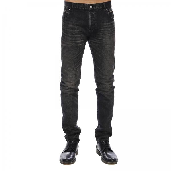 Jeans slim fit in cotone stretch used a 6 tasche