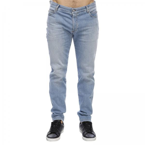 Jeans regular fit in cotone stretch used a 5 tasche