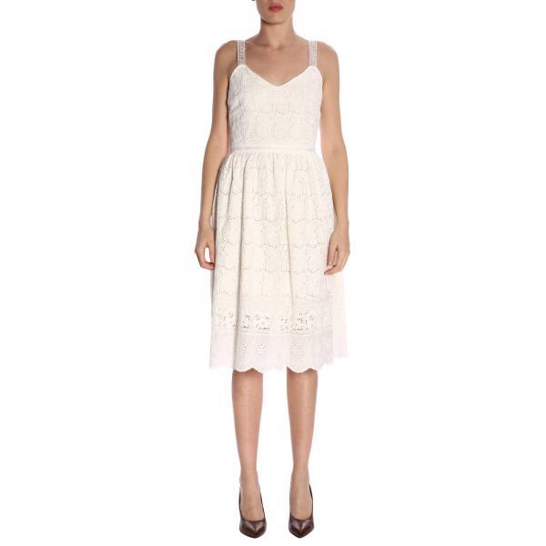 7596giglio Blumarine Vestido Blanco Mujer Blugirl Primavera 2019 verano xvvRAInq