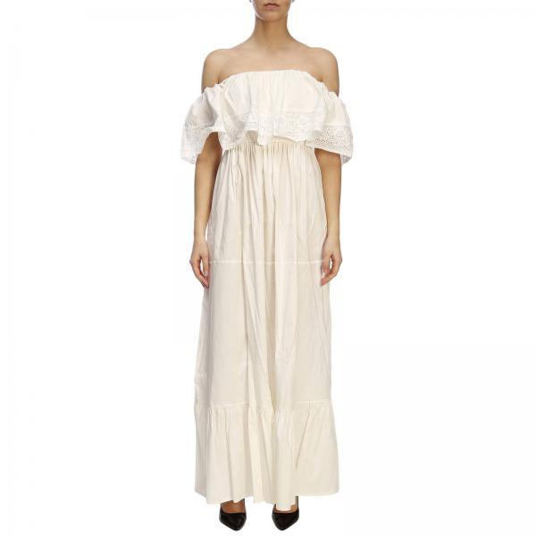 Primavera 7597giglio Blugirl Blanco 2019 verano Mujer Blumarine Vestido wIgSfXxq