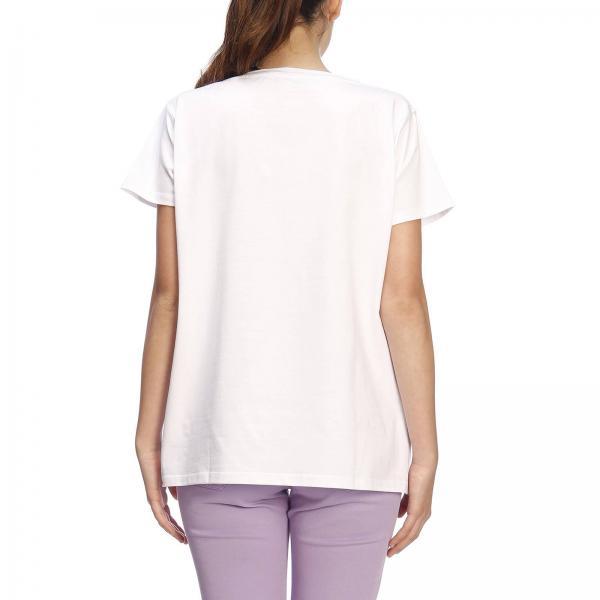 Blanco 2019 Mujer Blugirl 7691giglio Camiseta verano Blumarine Primavera qfTxcg4