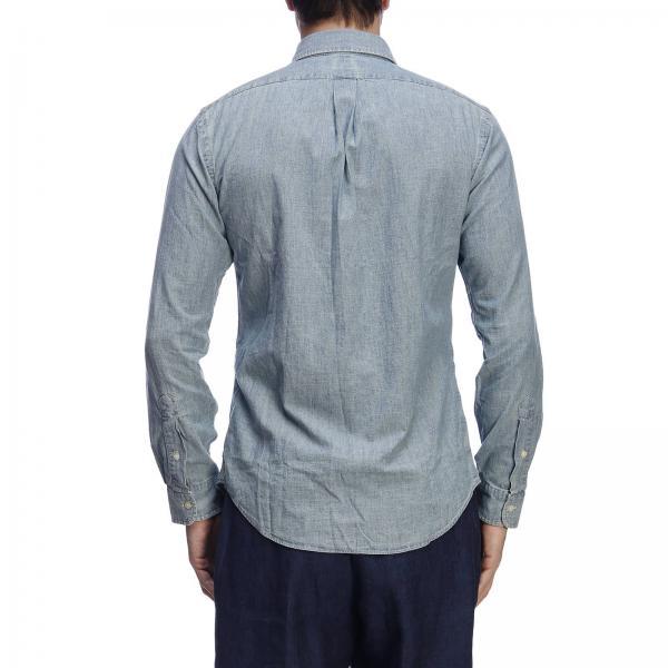 Ralph Button Down Slim Lauren Fit Collo Chambray E Polo Logo Con Camicia OPNymv8nw0