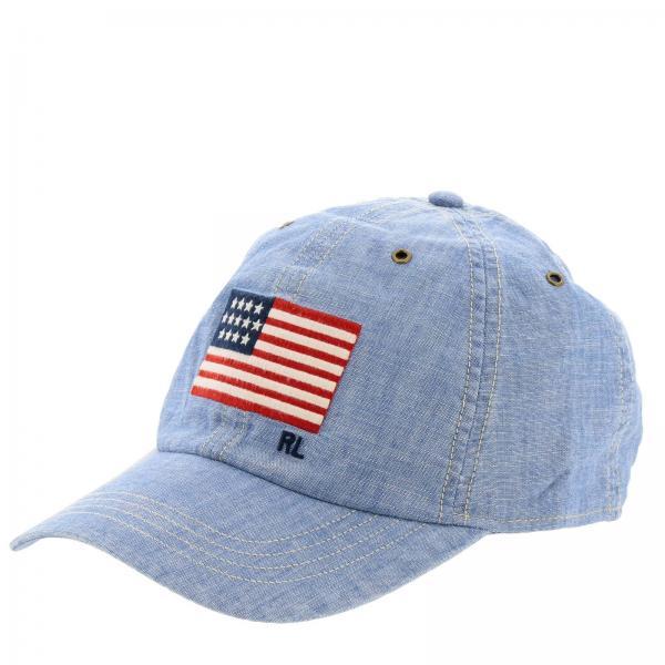 100% qualità prezzo basso trova il prezzo più basso Cappello in stile baseball con logo polo ralph lauren e bandiera
