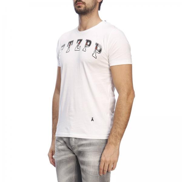 Logo Pepe A4xy shirt Maxi 5m1222 Corte Con Uomo BiancoA Maniche Stampa Patrizia T PXiuTwOZk