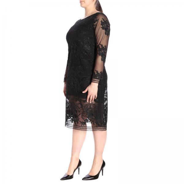 4221239giglio verano Mujer Rinaldi Negro Marina Vestido 2019 Primavera wY1qIw