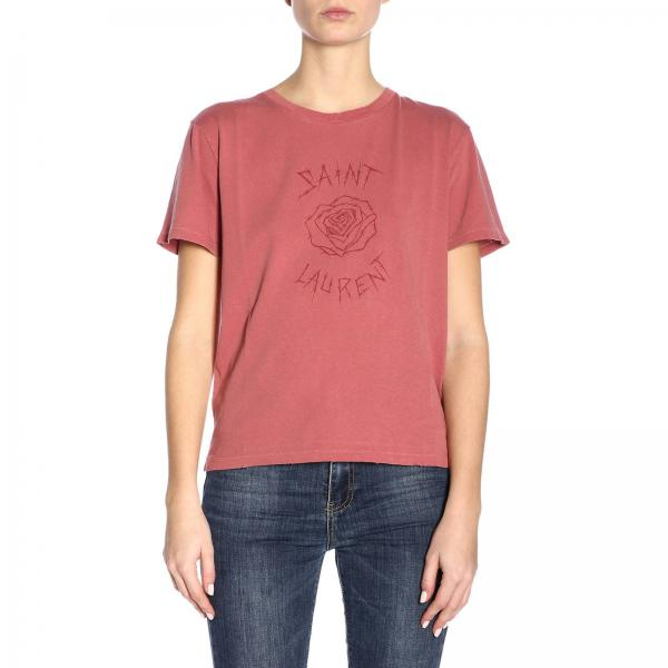 verano 2019 Camiseta Laurent Mujer Rosa Saint Primavera 561212 Ybfs2giglio 048O0Pxw