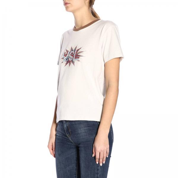 Blanco Ybeu2giglio verano 2019 Mujer 560070 Saint Primavera Laurent Camiseta fna6qUtf