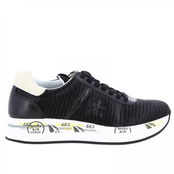 Sneakers Stampe NeroConny Trapuntata Suola Premiata In Multi Con Pelle Donna 8k0nwOP