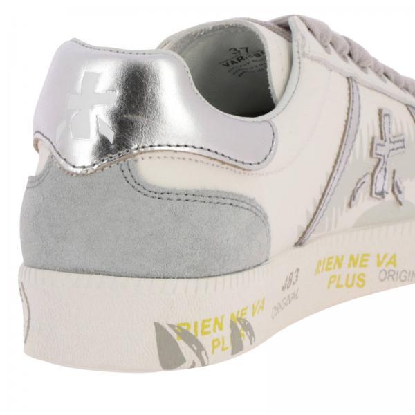Con Andy Camoscio Pelle Sneakers Cassetta E A Laminata Premiata Fondo In D92WHIE