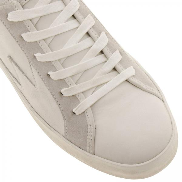Gomma Suola Con Sneakers Dettaglio Crime Stringata Pelle Storm Liscia Logo E Camoscio London In 8vwn0mN