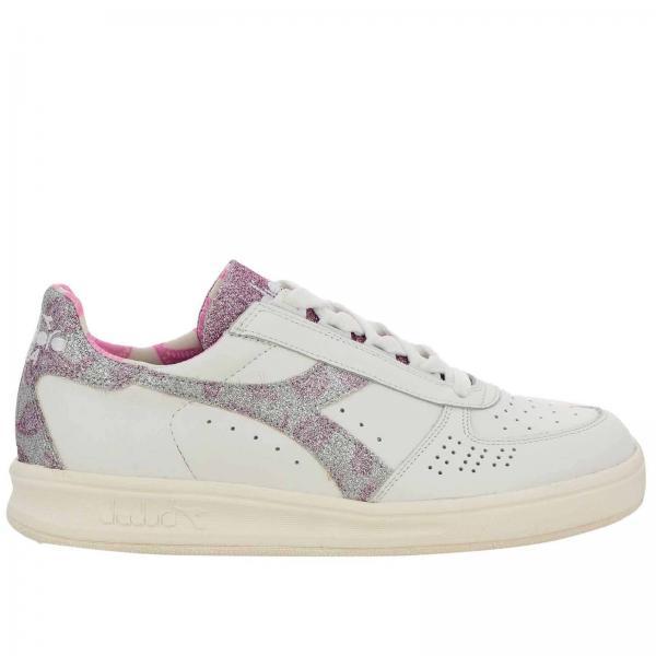 Sneakers b.elite paisley diadora heritage in pelle e glitter con micro fori