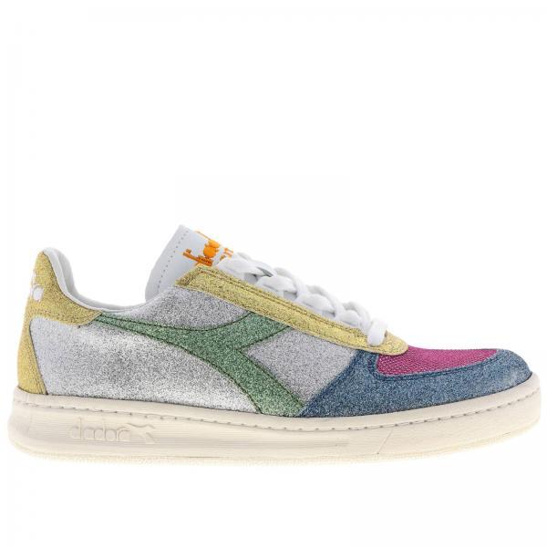 Sneakers b.elite h diadora heritage glitter multicolor e e pelle