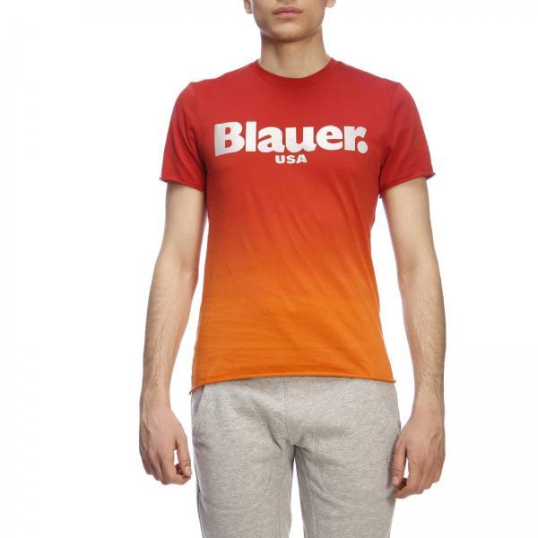 T-shirt a maniche corte con stampa Blauer