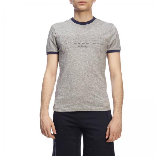 T-shirt a maniche corte con logo Blauer