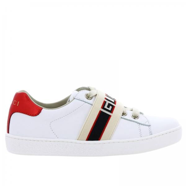 8d5d147260f6 Gucci Little Boy s White Shoes