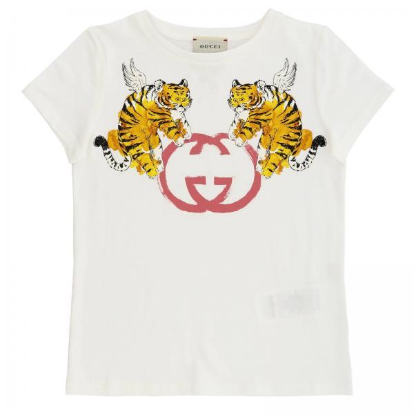 b8f373db72a T-shirt little girl Gucci