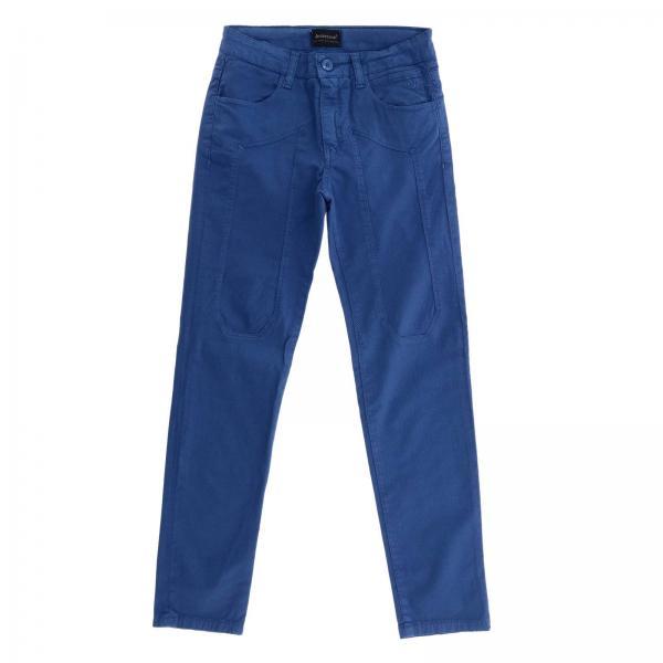 Pantalone J1048 Jeckerson a 5 tasche in gabardine stretch con maxi toppe