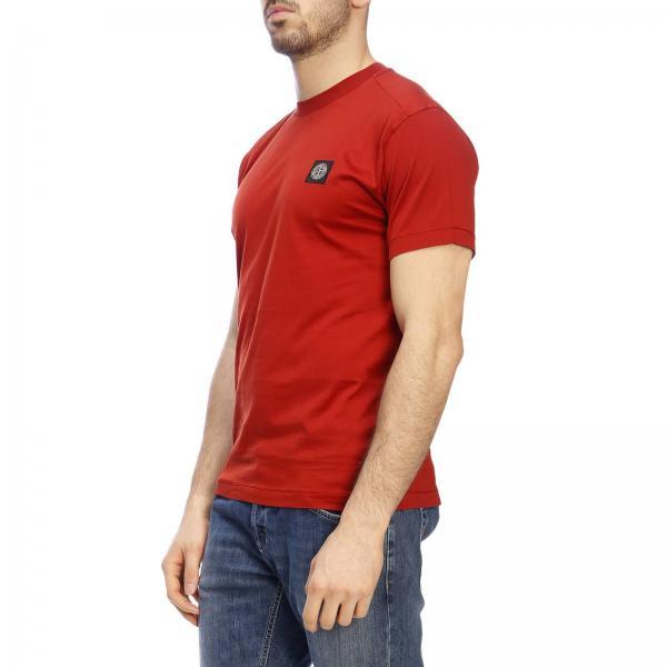Corte shirt Basic Maniche Logo Island By Con A Stone T L4q5R3Aj