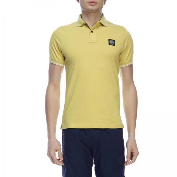 T Maniche Stone In A shirt Piqué Corte IslandPolo Contrasti 22s18 Con Uomo Cotone E Logo 13KlFTJc