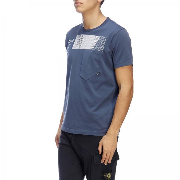 Stampa Maniche Shadow By shirt Stone T Island Corte A Con Maxi gYfyb76
