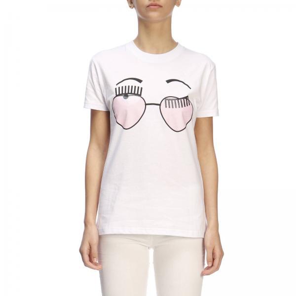 Chiara Ferragni Con Flirting Maxi shirt T StampaOcchiali 8nvNwm0O