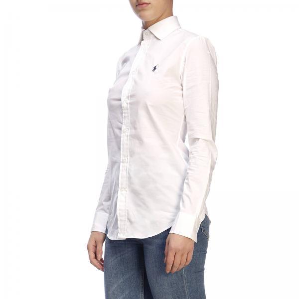verano Ralph 211537103giglio 2019 Camisa Primavera Polo Lauren Mujer Blanco nSxpHq0Zp