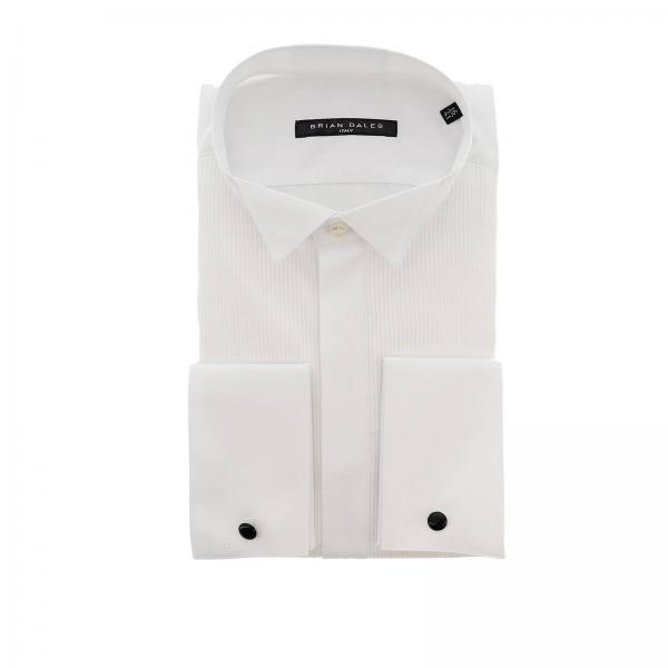 Camicia Brian Dales Camicie classica Sartoriale in cotone con plastron e collo diplomatico