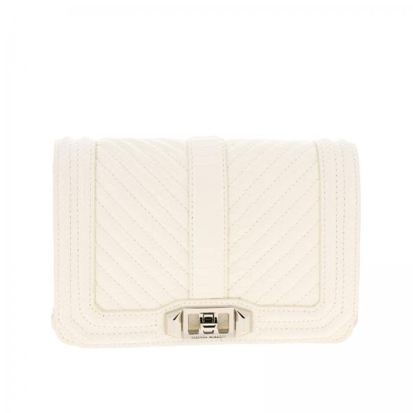 Borsa Love small crossbody in pelle stampa pitone by Rebecca Minkoff