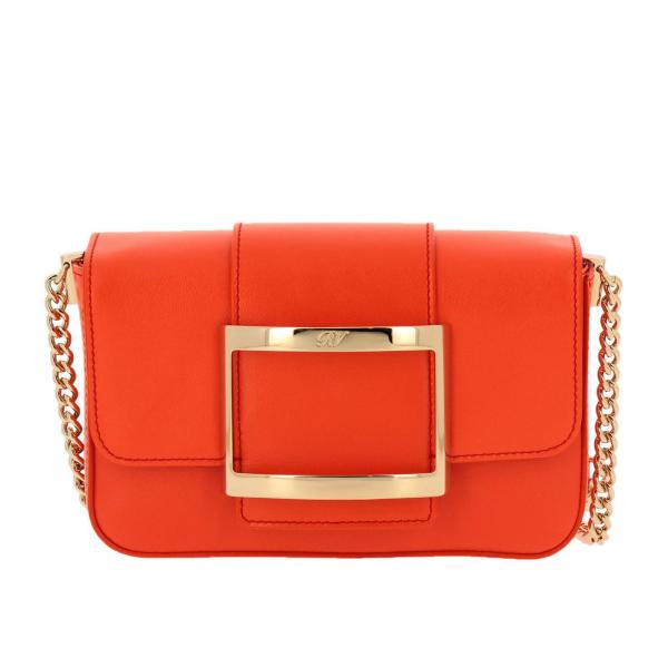 Borsa Très Roger Vivier mini in pelle liscia con big Metal Buckle