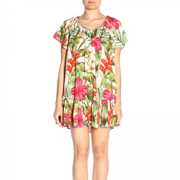 2019 Saint Barth Tropical Mujer Hannie Primavera Mc2 verano Blanco Vintage Vestido 01giglio P76nx4
