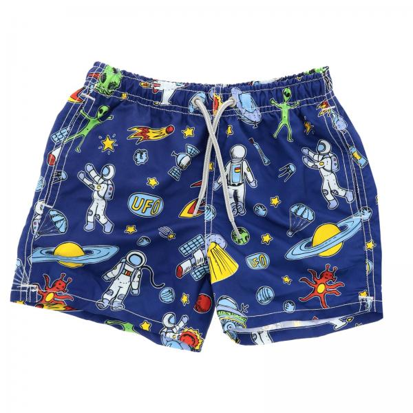 Costume Jean Astronaut MC2 Saint Barth a boxer con stampa astronauti all over
