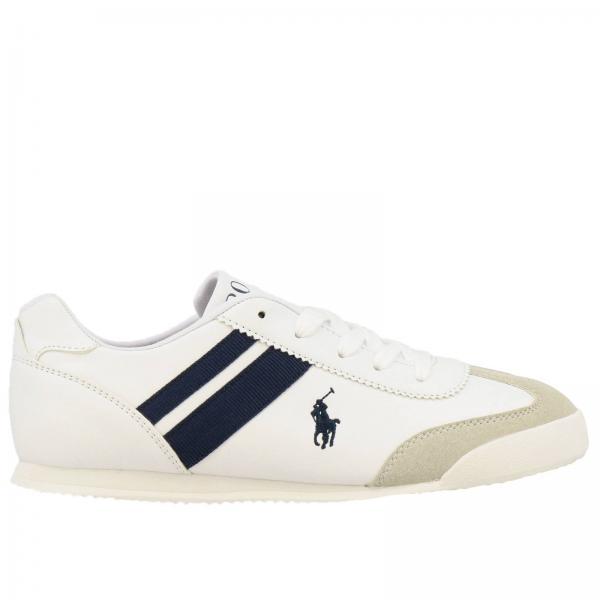 cerca genuino di modo attraente nuovo prodotto Sneakers emmons polo ralph lauren in pelle e camoscio con logo