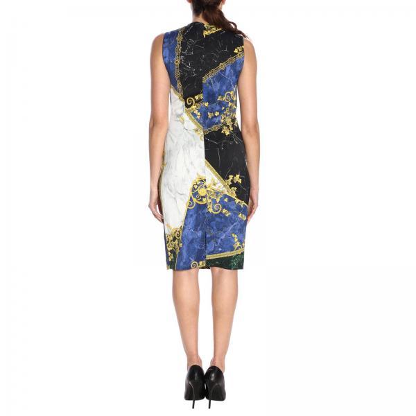 2019 G35715 Blue Primavera Versace G604516giglio Vestido Mujer verano Collection xn1wq1S8a