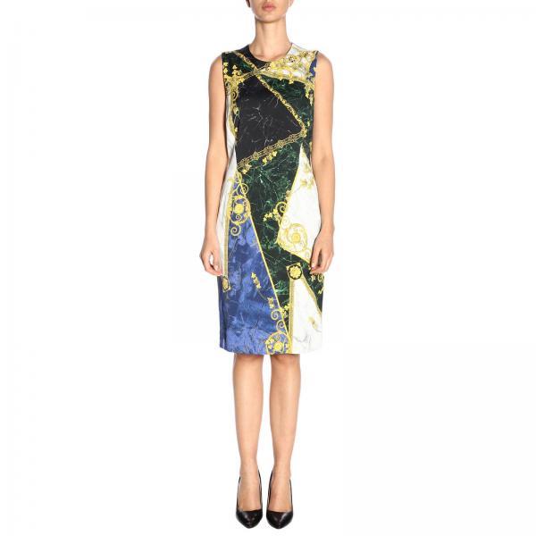 2019 G35715 Blue Mujer Vestido G604516 Primavera Collection Versace giglio verano pvz4zZg