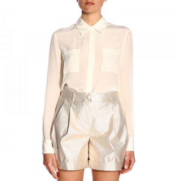 verano 1b13qe Mujer Camisa 7312 Pinko 2019 Primavera Norinagiglio Blanco SBx6g0qw
