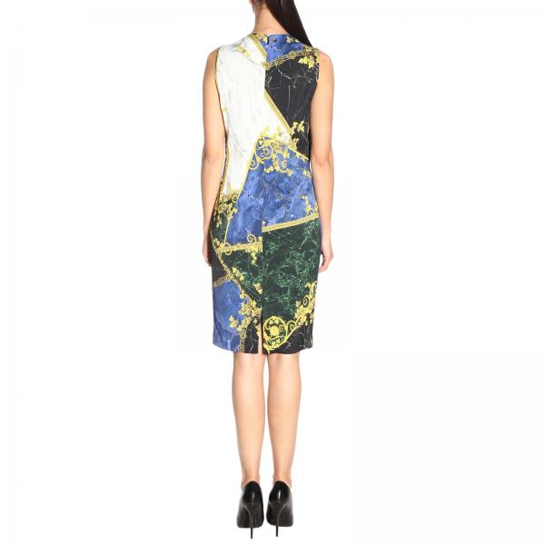 Mujer Vestido verano Versace Collection Blue 2019 G35715 Primavera G604516giglio zddq7wr
