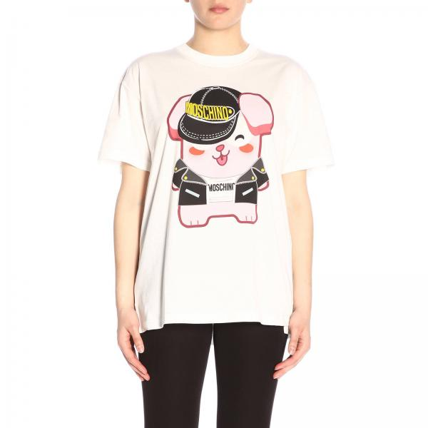 T-shirt Moschino Capsule Collection Pixel in cotone