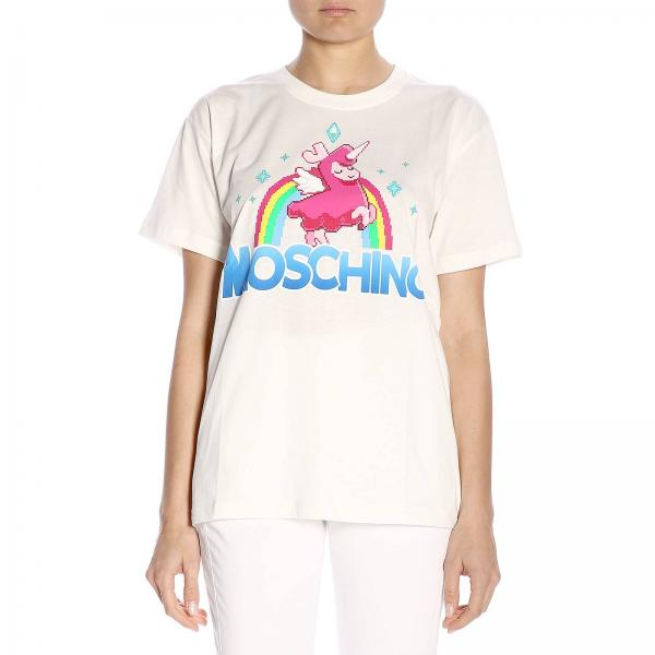 T-shirt Moschino Capsule Collection Pixel The Sims in puro cotone con stampa poni