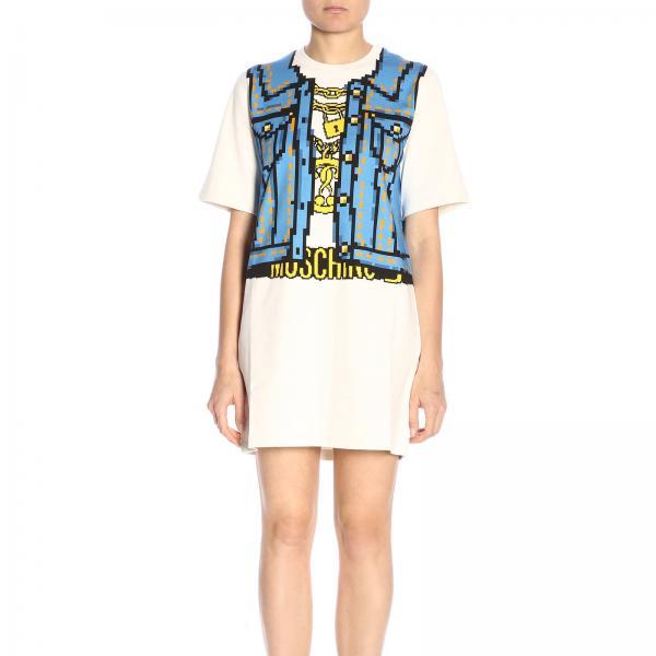Платье Moschino Capsule Collection Pixel из хлопка с рисунком жилет