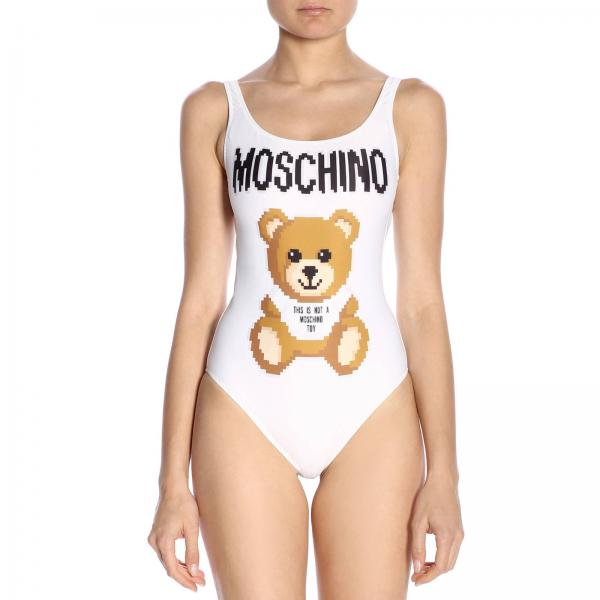 Costume Moschino Capsule Collection Pixel intero con stampa Teddy
