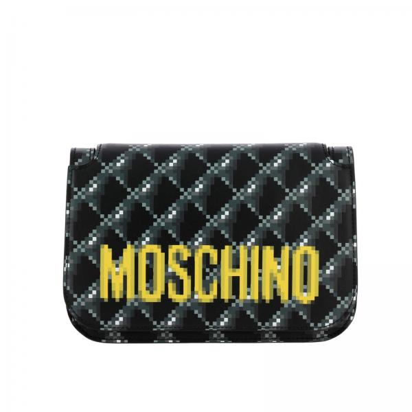 Borsa Moschino Couture Capsule Collection Pixel a tracolla in pelle