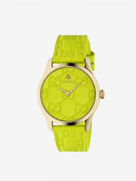 GG watch with Gucci strap and metal case