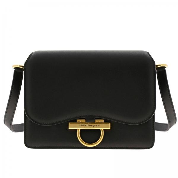 Classic Joanne Salvatore Ferragamo bag in genuine leather with Mediterranean hook