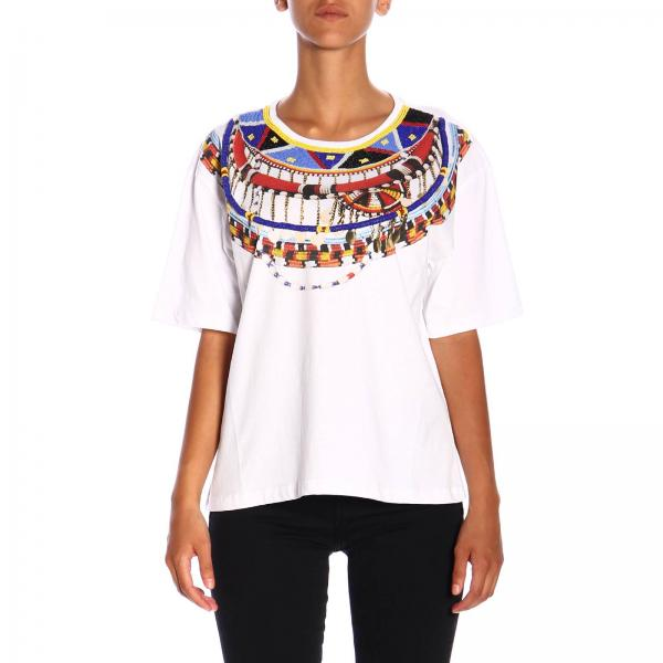 T-shirt Babaco Pinko Treedom a maniche corte con maxi stampa in cotone organico