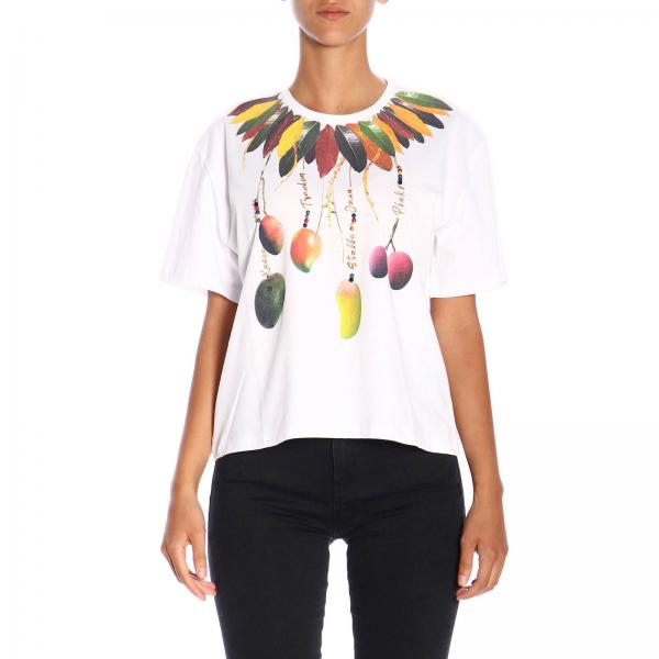 T-shirt Durian Pinko Treedom a maniche corte con maxi stampa in cotone organico